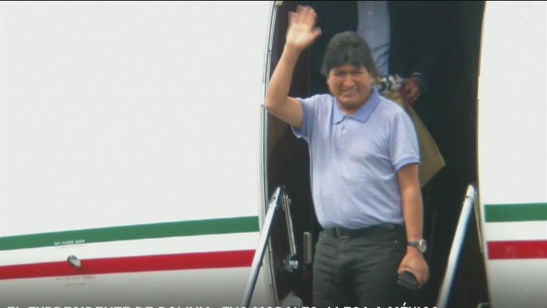 Expresidente de Bolivia, Evo Morales, ya está en México tras haber aceptado el asilo político ofrecido por el gobierno mexicano