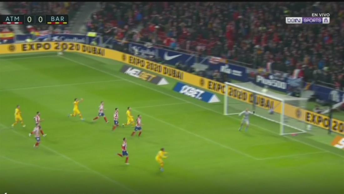 Lionel Messi le da la victoria al Barcelona ante el Atlético de Madrid