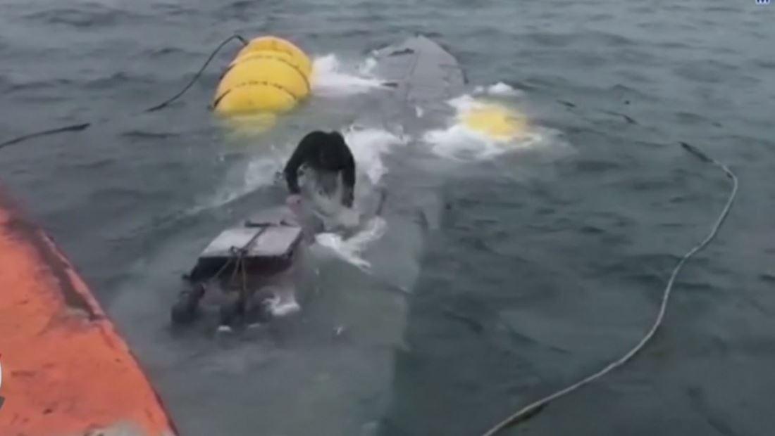 Así capturaron un submarino casero repleto de cocaína en España