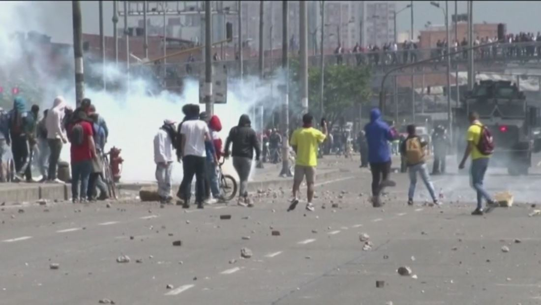 Paro Nacional en Colombia terminó en caos, violencia y vandalismo