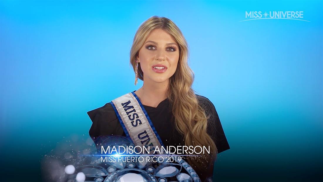 """Entrevista a Madison Anderson, Miss Puerto Rico 2019: por la """"nueva generación"""" y más"""