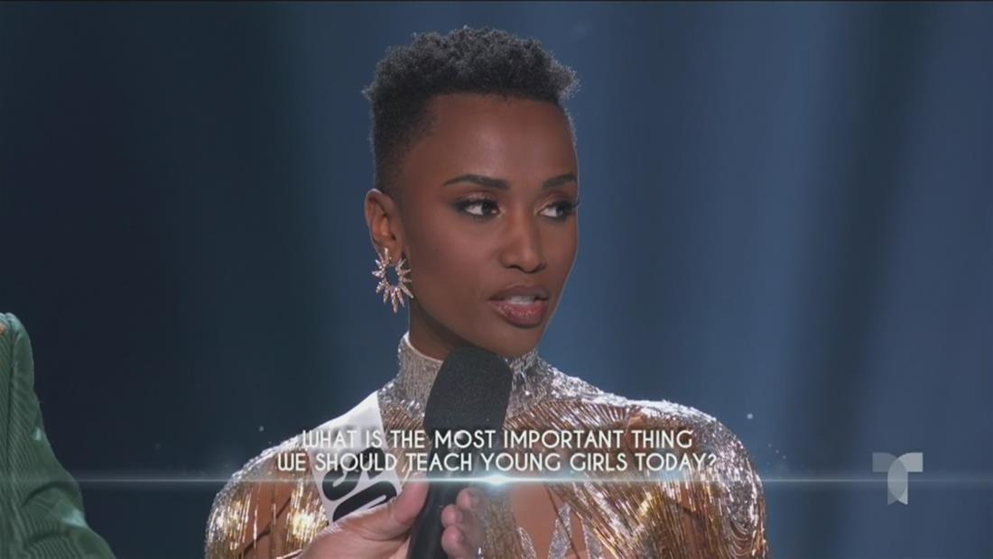 Miss Universo 2019 Top 3: así fue la respuesta de Miss Sudáfrica
