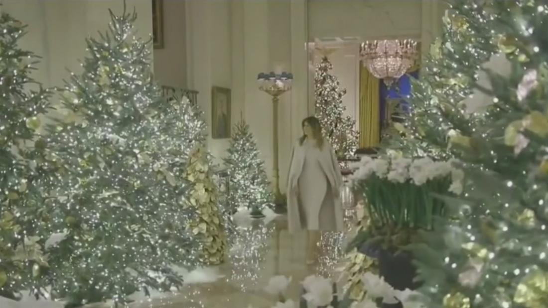 Melania Trump revela las decoraciones navideñas de la Casa Blanca