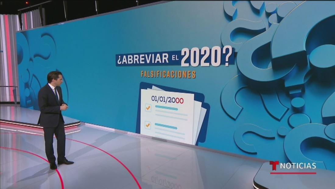 La abreviación del año 2020 podría facilitar el fraude