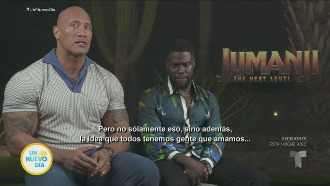 Hablamos con Kevin Hart y 'The Rock' sobre 'Jumanji: The Next Level'