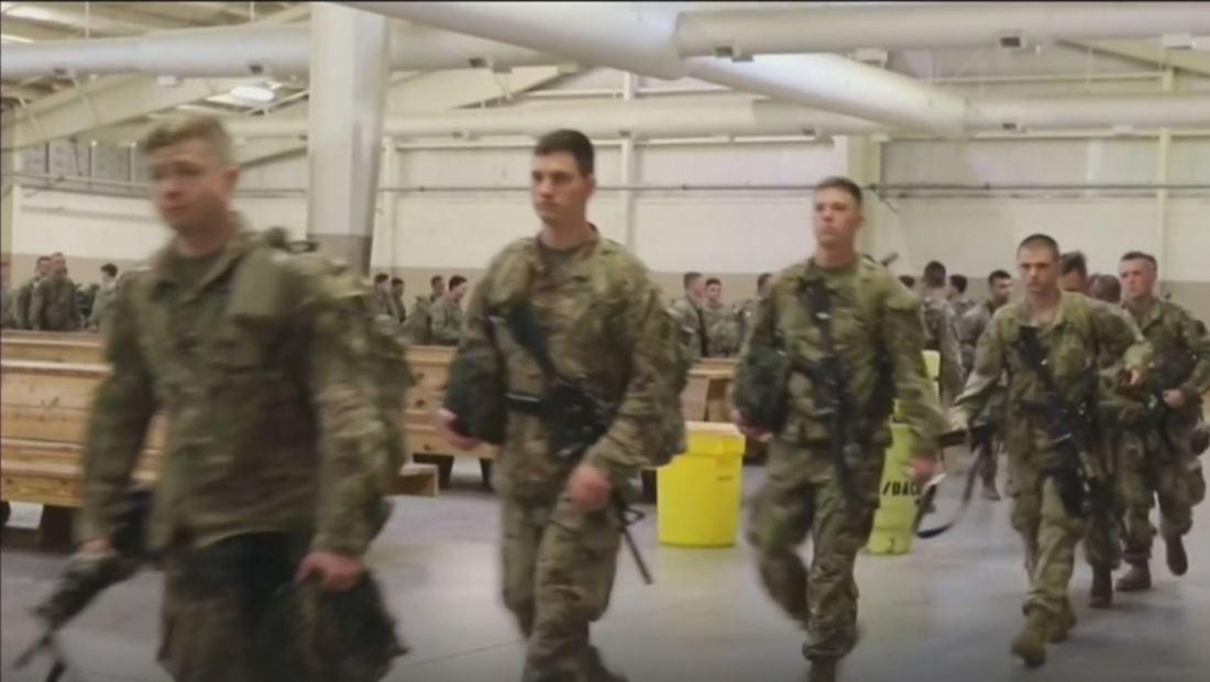 Tranquilidad entre soldados estadounidenses tras últimas palabras del presidente Trump