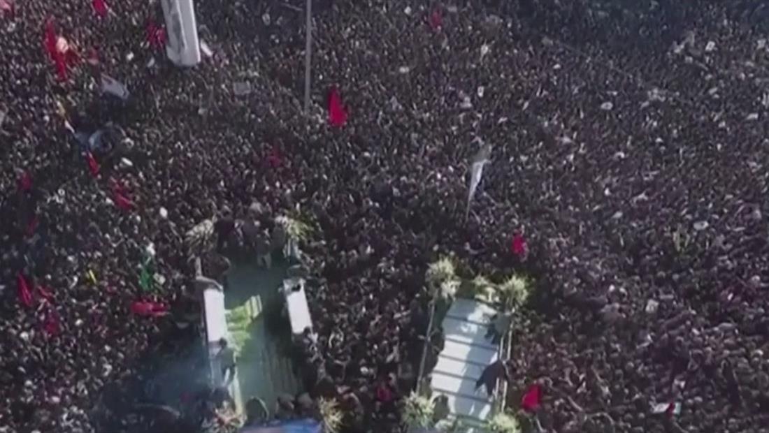 Estampida humana en el funeral del general Soleimani en Irán