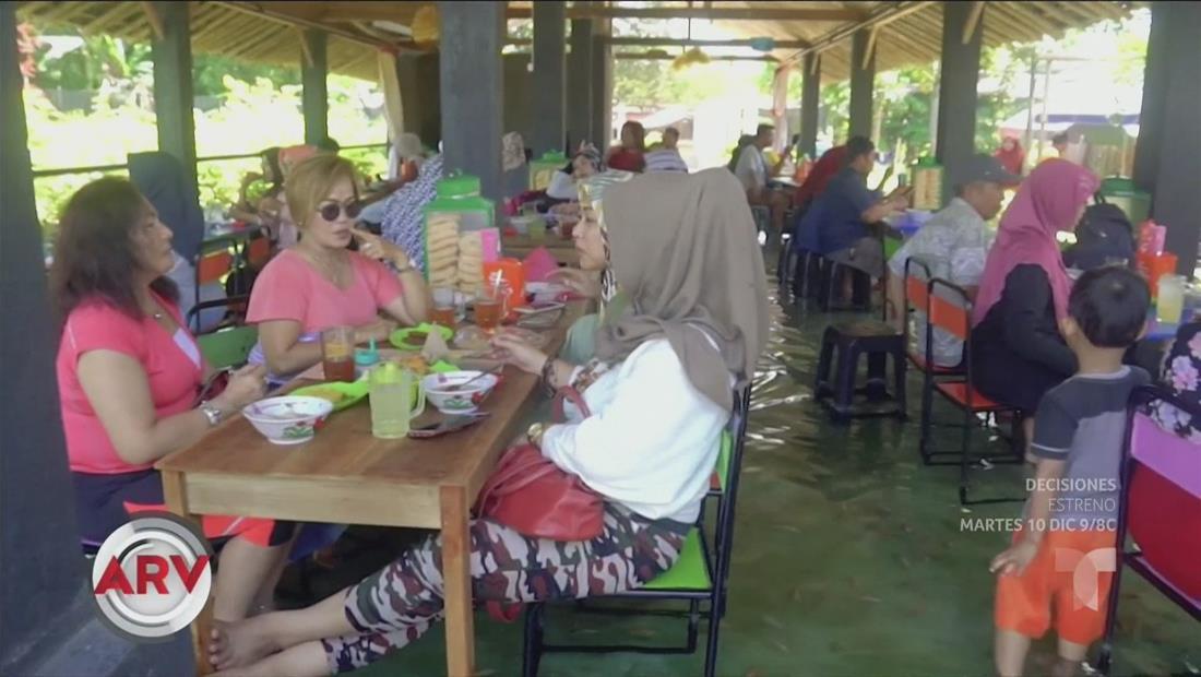 En un restaurante de Indonesia, los peces son los que comen de ti