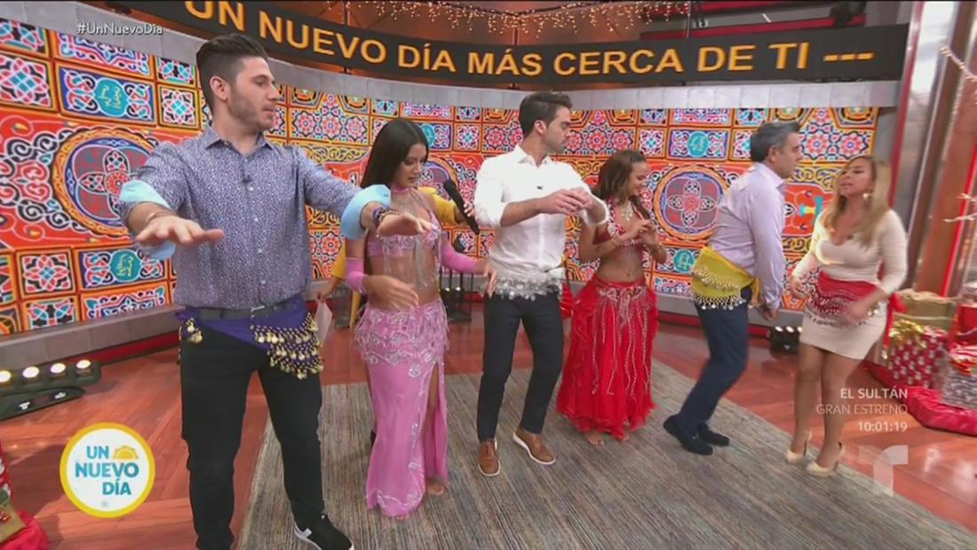Dos bailarinas de 'Belly Dance' ponen a bailar a los chicos de Un Nuevo Día