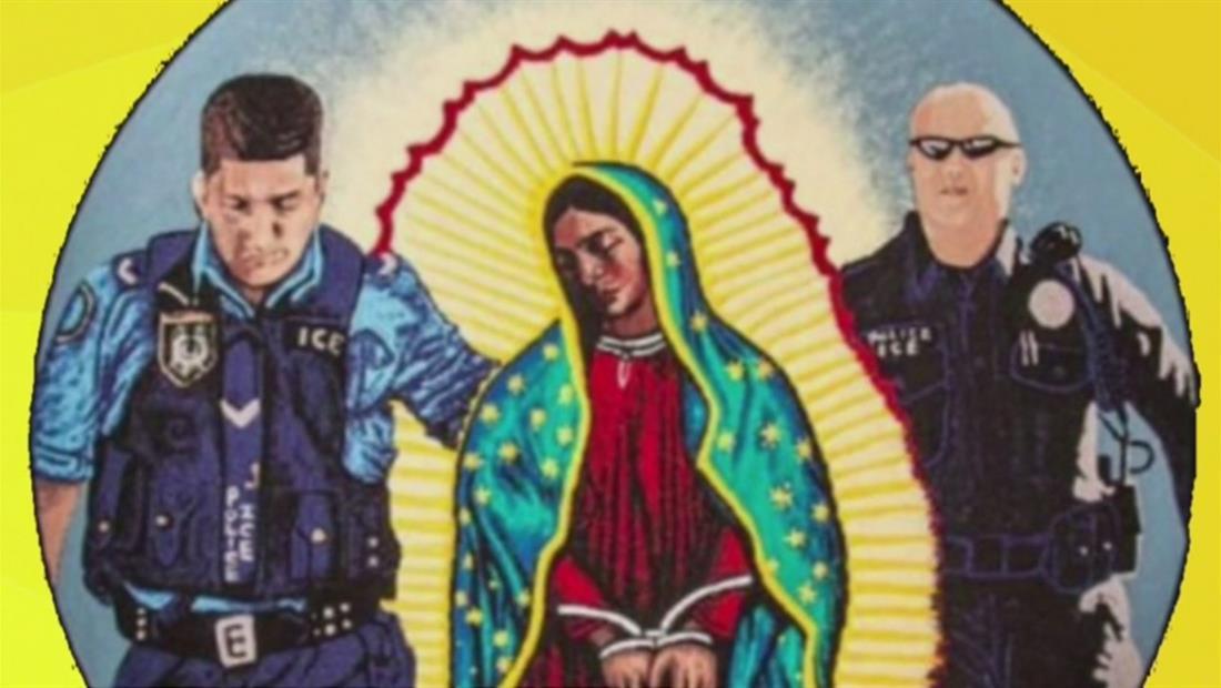 Regresa la imagen de la Virgen de Guadalupe siendo detenida por ICE