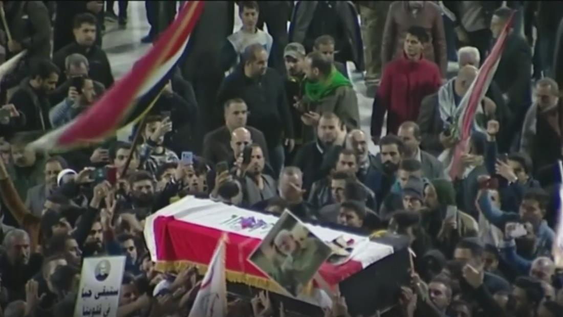 Miles de personas claman venganza en Irán e Irak por el ataque de EE. UU. que mató al principal líder militar iraní