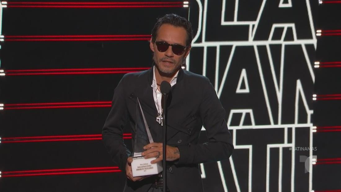Marc Anthony recibe el premio Artista Internacional de la Excelencia |Latin AMAs 2019