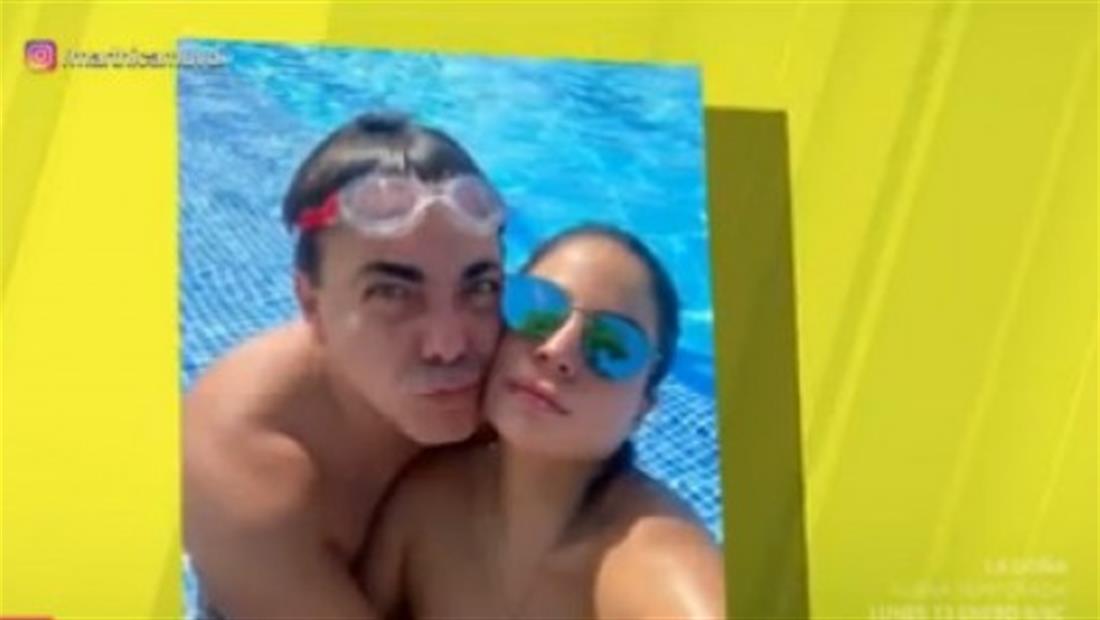 ¡Cristian Castro de romance con una guapa colombiana!