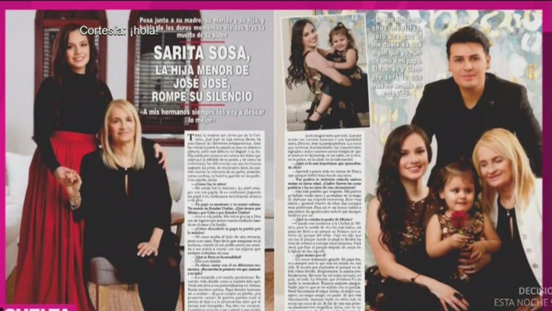 Sarita Sosa en la portada revista HOLA, ¡Entérate por qué!