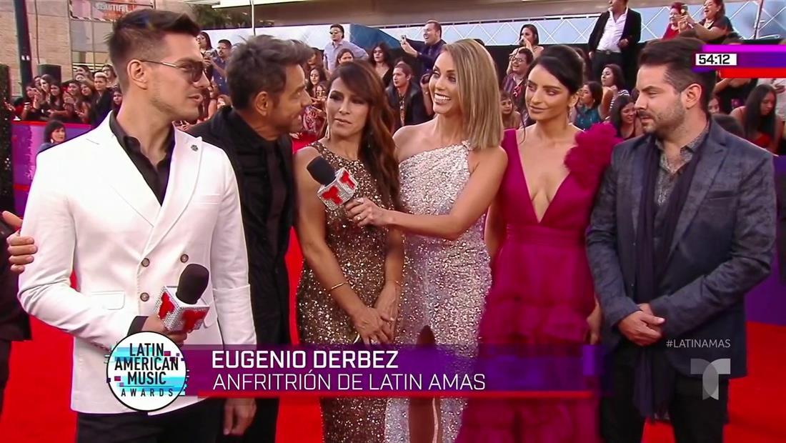 Eugenio se llevó a todos los Derbez a los Latin AMA'S 2019