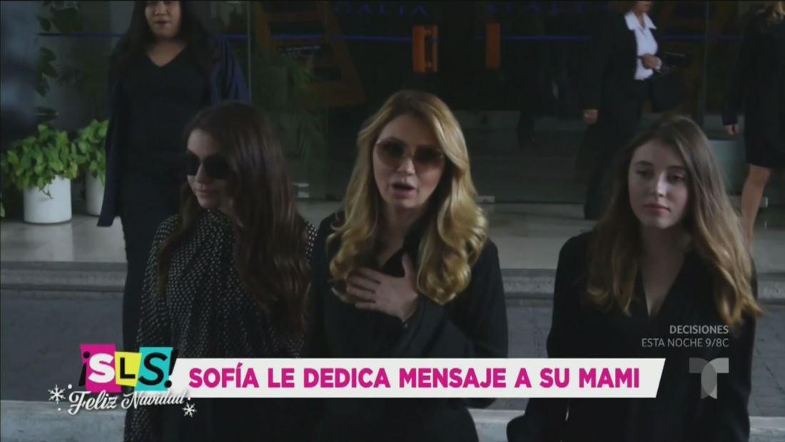 Sofía Castro le dedica emotivo mensaje a Angélica Rivera