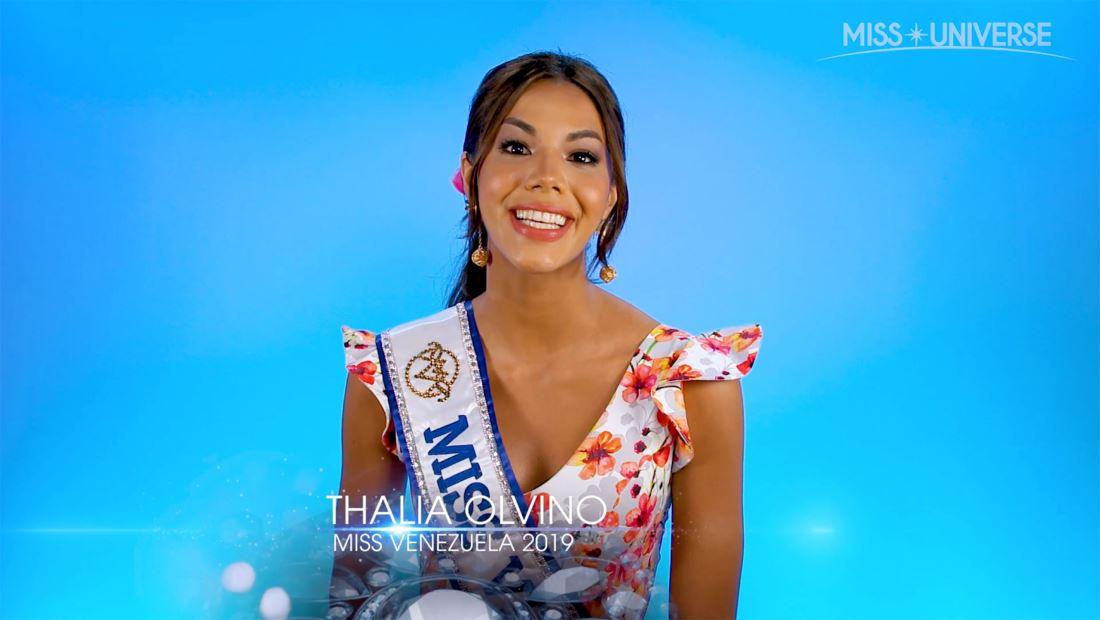 Entrevista a Thalia Olvino, Miss Venezuela 2019: el future de su país y más