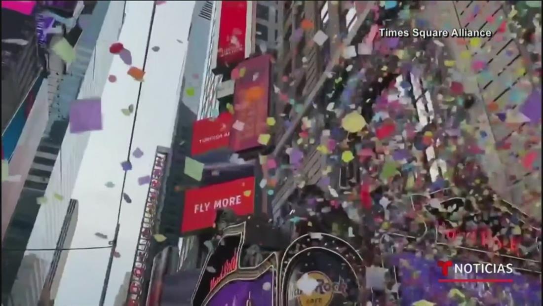 Llueve confeti y se enciende la gran bola de Time Square en el ensayo final antes del 2020