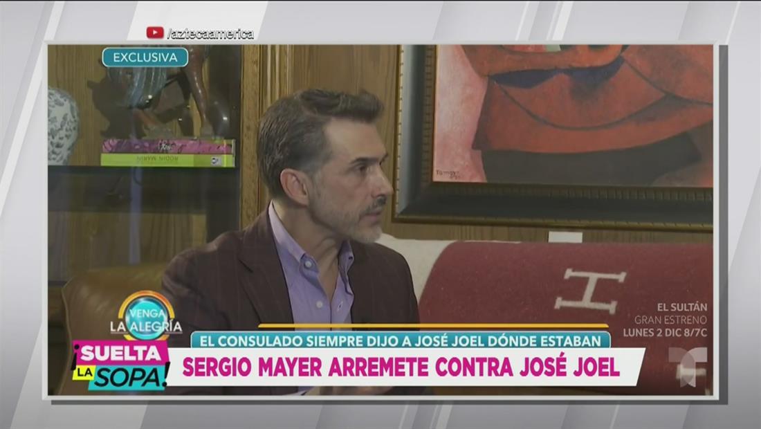 Sergio Mayer revela que José Joel sí sabía dónde estaba el cuerpo (VIDEO)