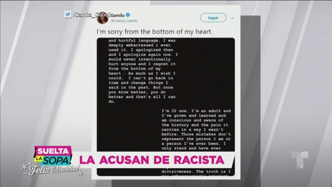 Camila Cabello pide disculpas por comentarios racistas