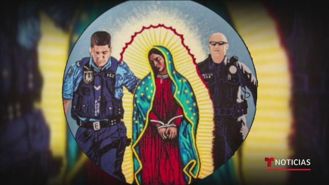 Reaparece imagen de la Virgen de Guadalupe bajo custodia de ICE