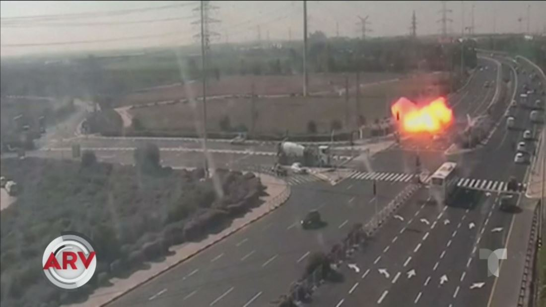 Captan misil estallando en carretera en represalia por un asesinato