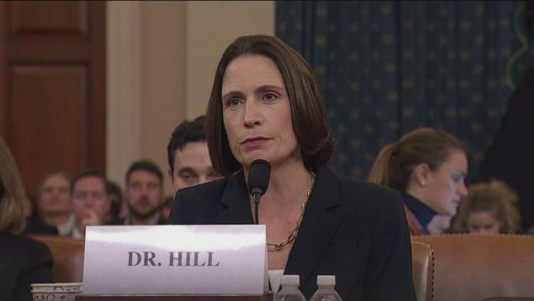 Testimonios de Fiona Hill y David Holmes refuerzan la denuncia de que presión a Ucrania fue para favorecer a Trump