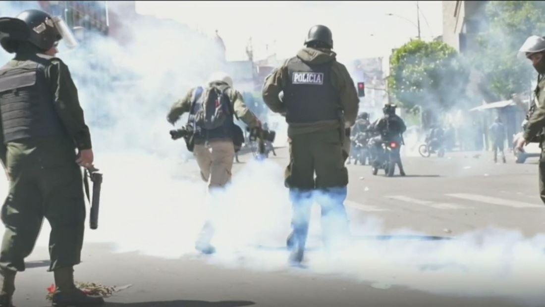 Protestas en Colombia y Bolivia causan violentos enfrentamientos entre manifestantes y policías