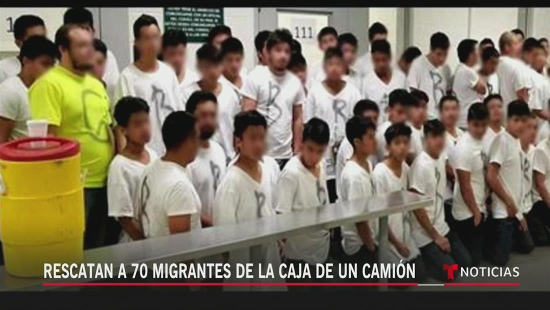 Rescatan a 70 inmigrantes de la caja de un camión en Texas