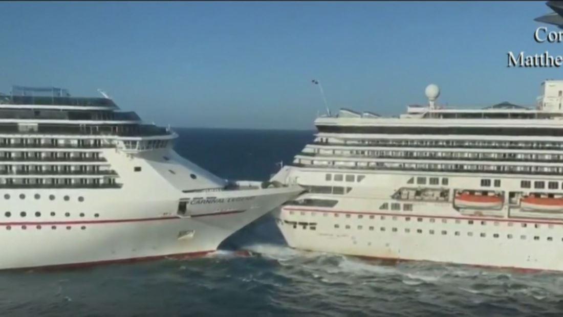 Así fue el impresionante choque de dos cruceros en Cozumel, México. Testigos reaccionan al incidente