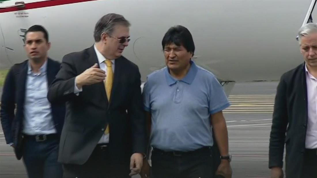 Evo Morales llega a México tras un complicado traslado luego de su renuncia a la presidencia de Bolivia
