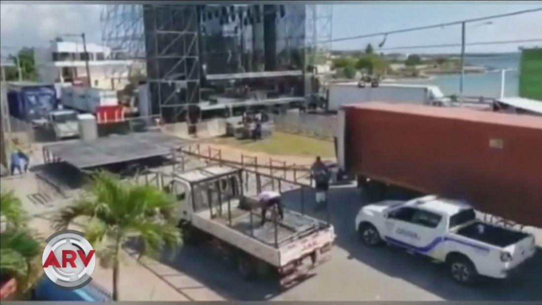 Instalan zona VIP ilegal en concierto de Romeo Santos
