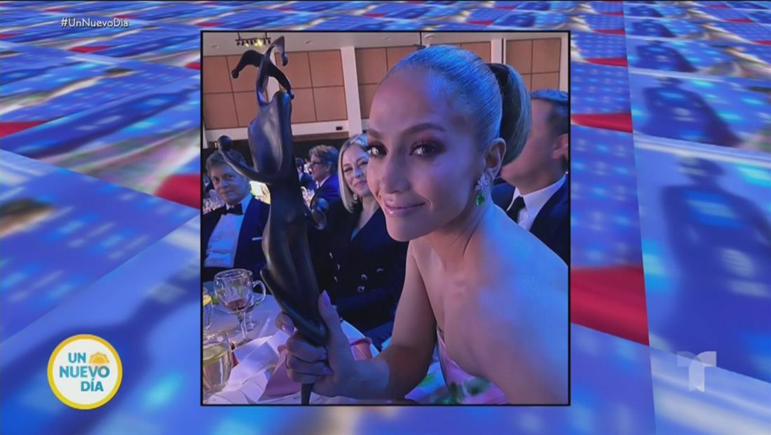 Jennifer Lopez llora de emoción al recibir premio en festival de cine