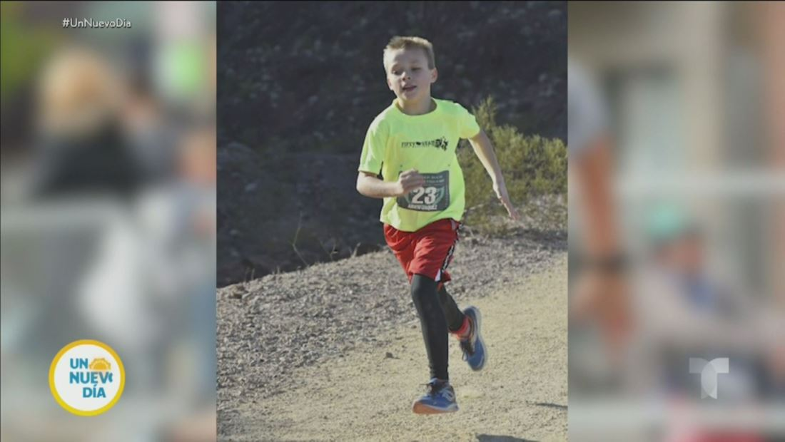 Niño de 11 años rompe récord mundial por correr 50 maratones