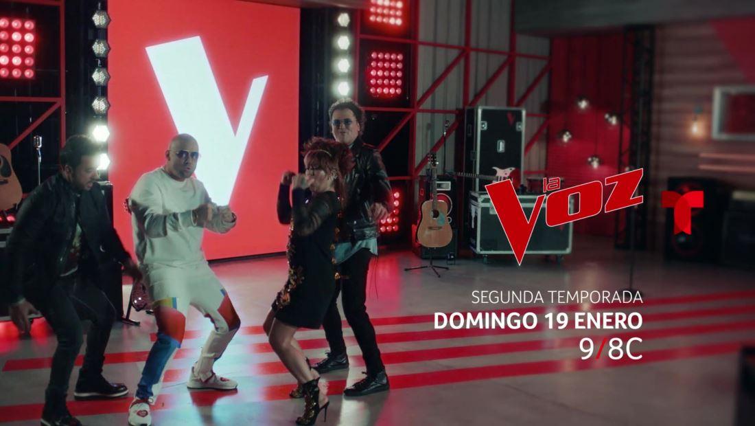 La segunda temporada de La Voz US comieza el 19 de enero por Telemundo