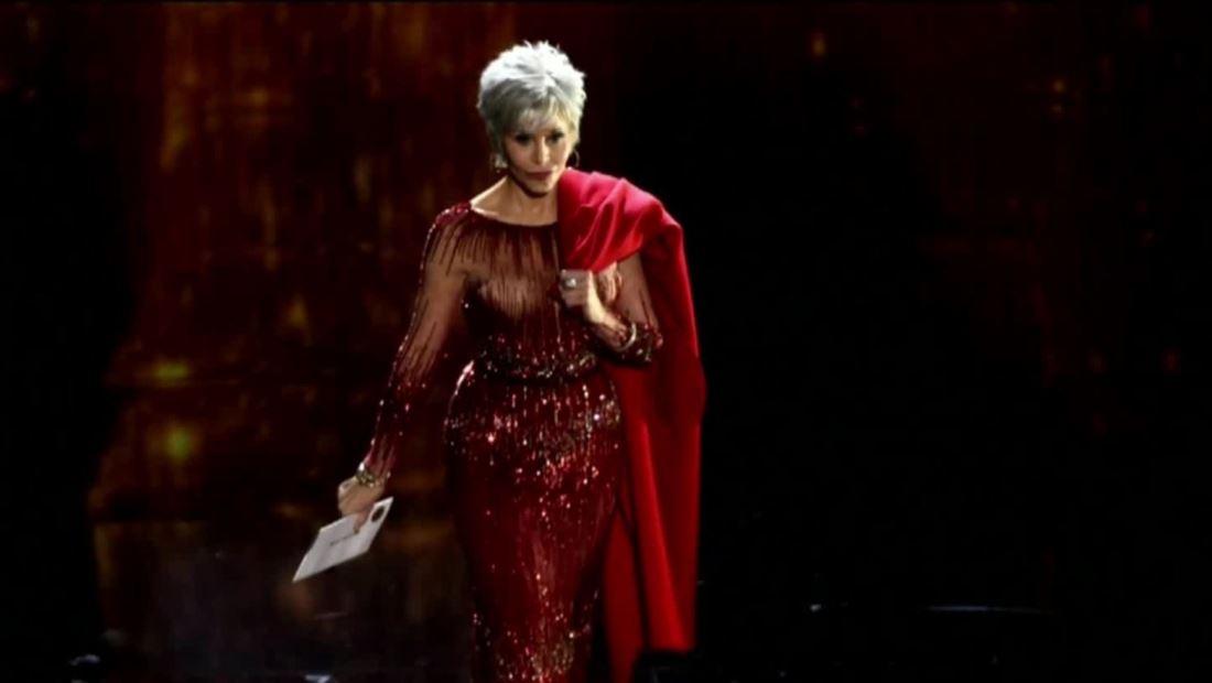 Oscars 2020: Jane Fonda luce al natural a sus 82 años y envía mensaje ambiental