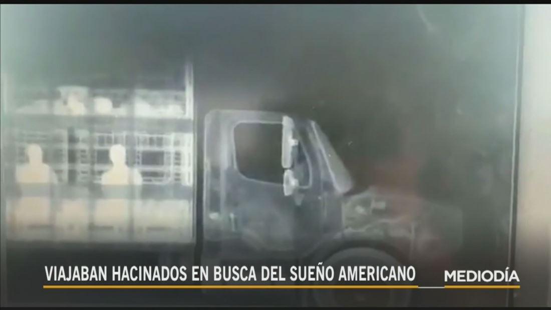 Descubren a 51 inmigrantes hacinados en un camión