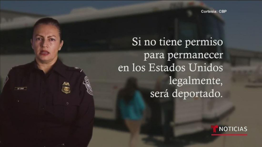 Patrulla fronteriza publica video para explicar la nueva política migratoria de permanecer en México