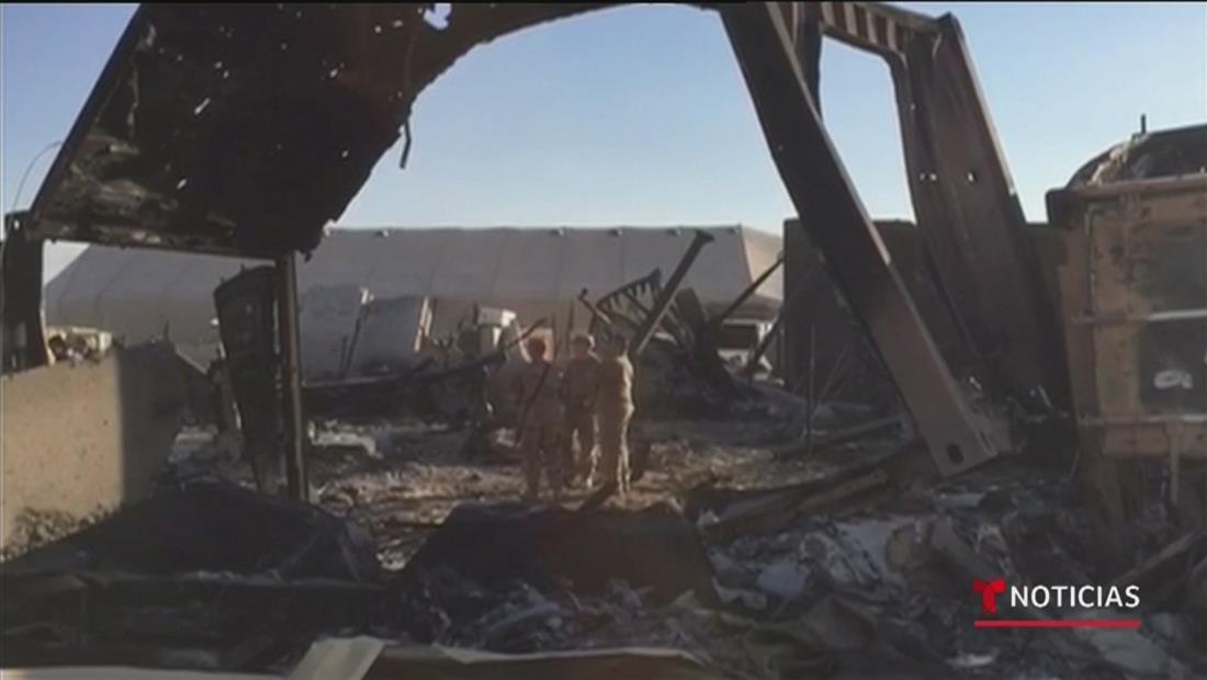 Salen a la luz nuevas imágenes de cómo quedó la base militar estadounidense tras ataque de Irán