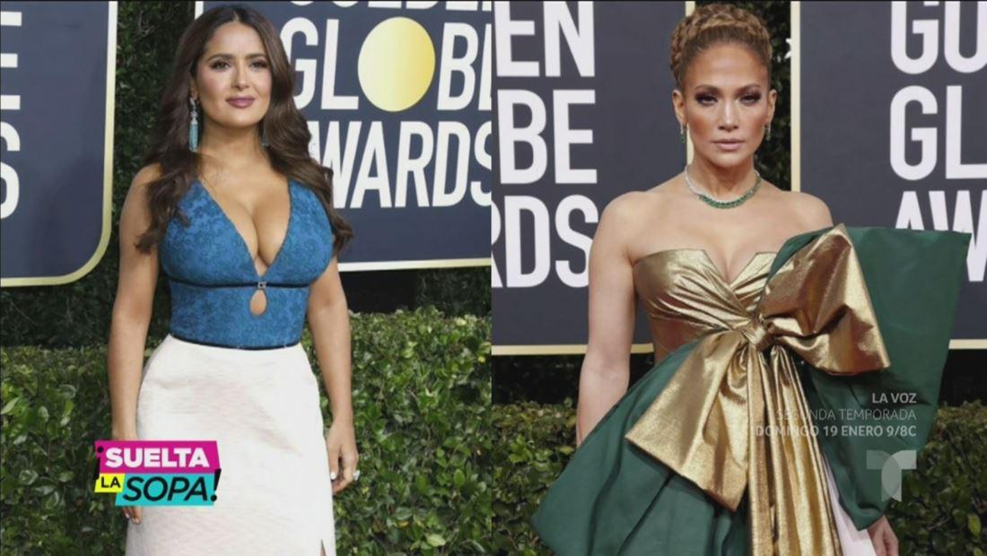 Jennifer Lopez y Salma Hayek dieron de qué hablar en los Golden Globes