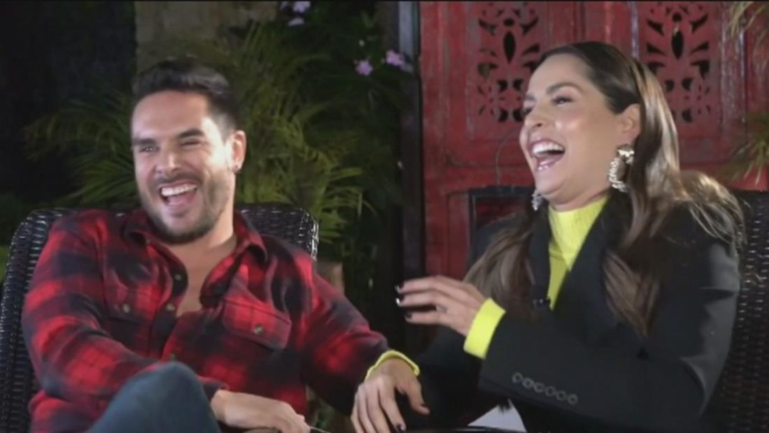 Sebastián Caicedo reacciona al ardiente beso de Carmen Villalobos y El Titi