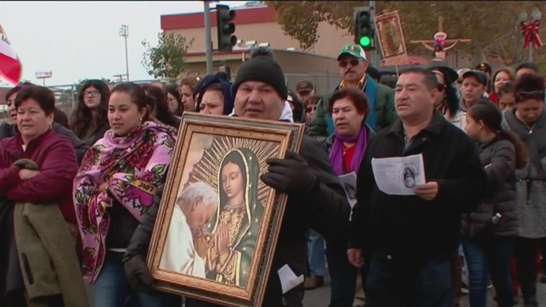 Los Ángeles celebra a la Virgen de Guadalupe con una larga peregrinación