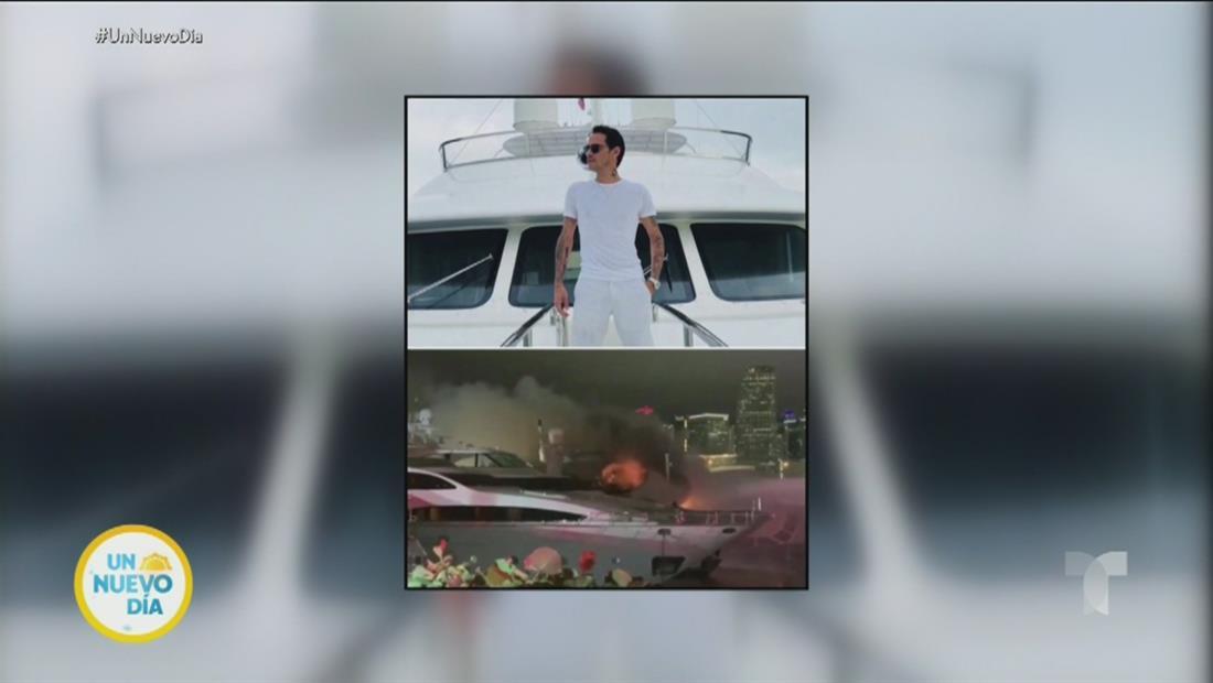 Marc Anthony: se incendia su yate en un puerto de Miami