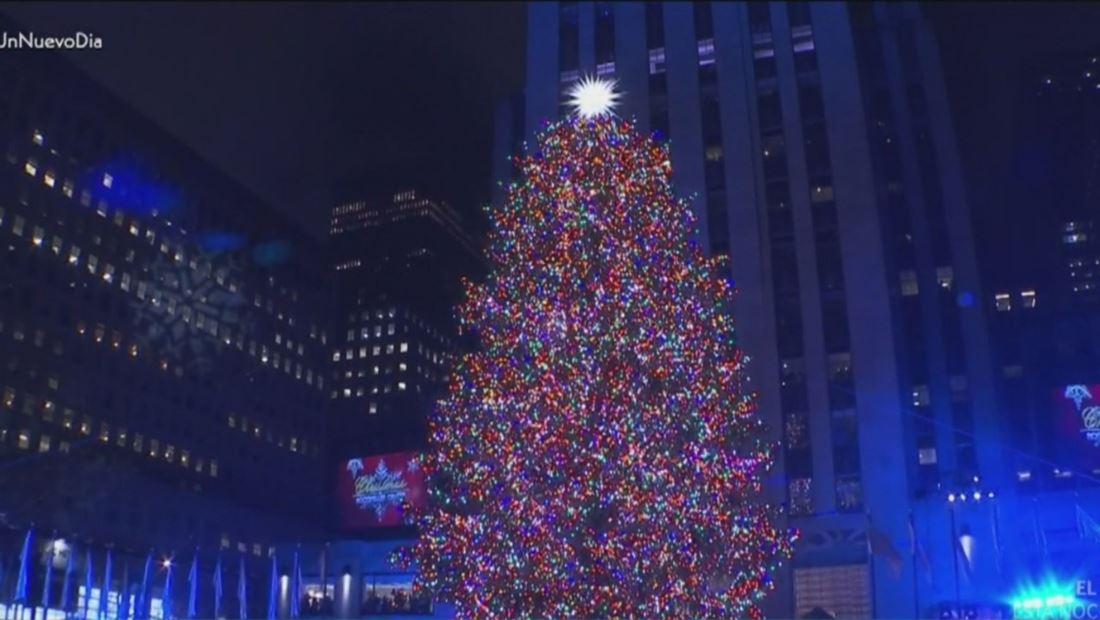 Nueva York recibió la Navidad con el encendido del Árbol Rockefeller
