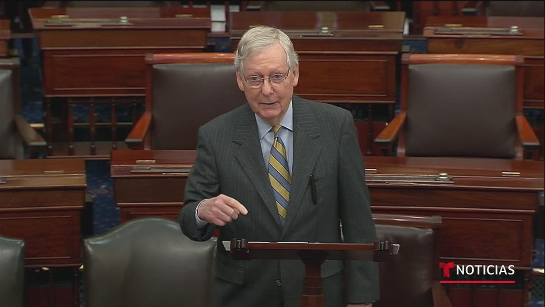 Mitch McConnell asegura que el juicio contra el presidente Trump en el Senado comenzará el martes