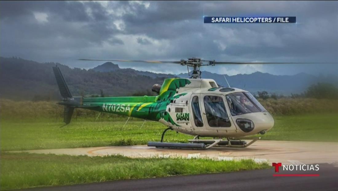 Dos familias pierden la vida al estrellarse un helicóptero turístico en Hawái