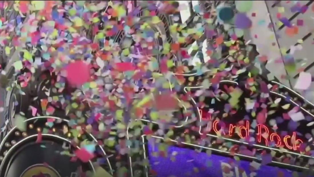 Realizan prueba del confeti que se lanzará en Nueva York