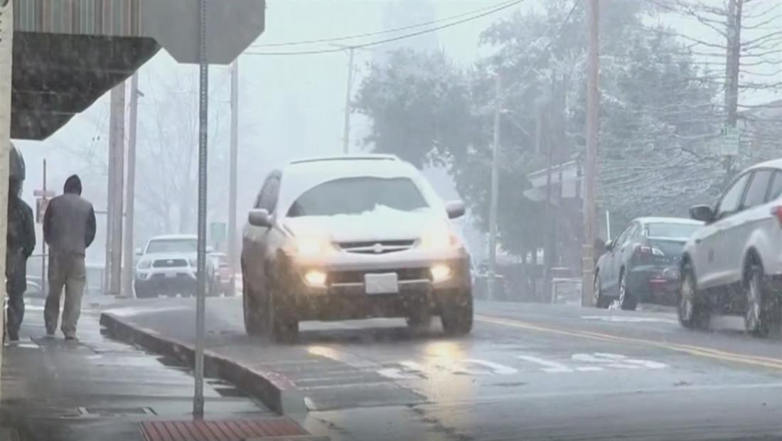 Caos en EE.UU: 100 millones de personas están sufriendo el impacto de tormentas invernales