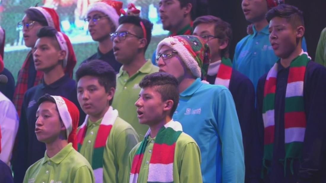 Así celebran la Navidad los colombianos en Bogotá