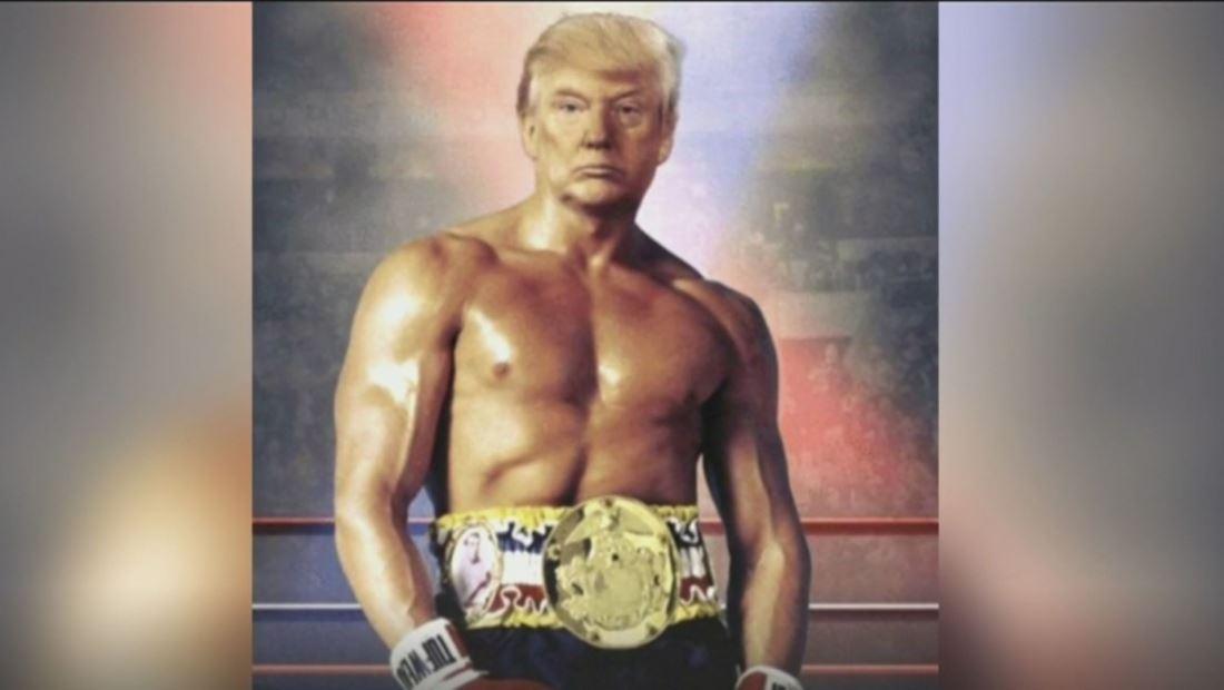 Trump tuitea una foto suya transformado en Rocky Balboa y enciende las redes sociales